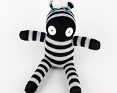 Children Gift Handmade Sock Zebra Stuffed Animal Doll Baby Toys