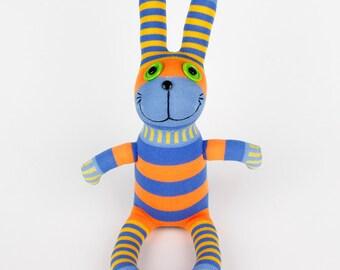 Handmade Sock Rabbit Bunny Stuffed Animal Doll Baby Toys easter gift Children New Year Gift