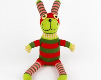 New Year Gift Christmas Gift Handmade Sock Rabbit Bunny Stuffed Animal Doll Baby Toys easter Kids gift