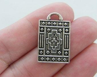 4 Magic carpet charms tibetan silver P20