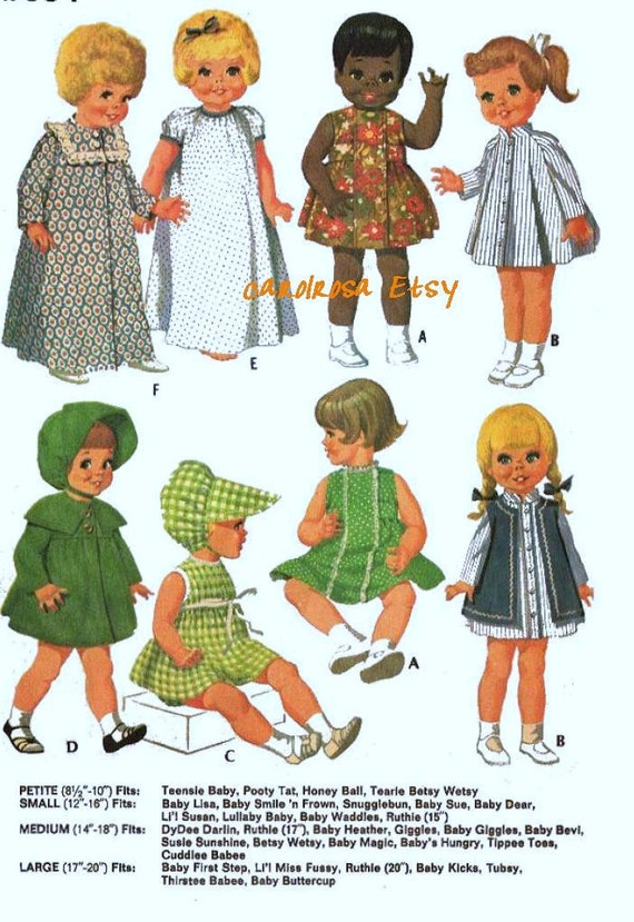 Sewing Pattern Dolls Clothing Medium 14 To 18 In Dolls Ag
