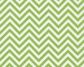 Remix Chevron Fabric in Lime by Robert Kaufman Fabrics - 1 Yard- By the Yard