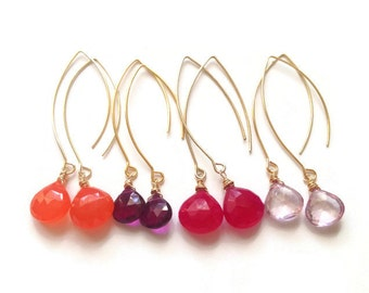 Cole Earrings in Shades of Pink & Orange