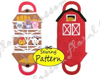 Digital Pattern: Barn Finger Puppets Storage