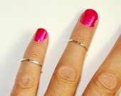 Sterling Silver Midi Rings - Size 2 - Ring Set - Toe Rings - Small Rings - knuckle rings - pinky ring - Stacking Rings