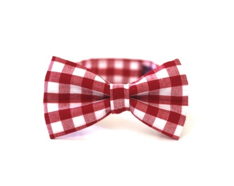 Boy's Bow Tie - Red Gingham - In Stock