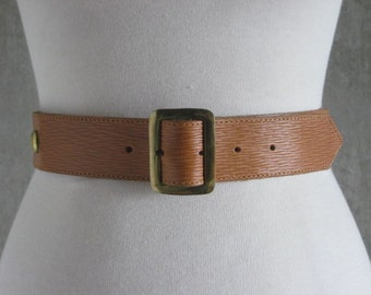 80s VINTAGE Banana Republic Travel and Safari Clothing Co brown leather belt S
