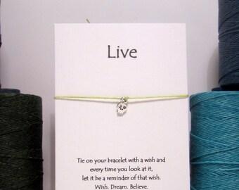 Live Tiny Skull   Wish Bracelets Silver