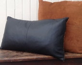 Upcycled Leather Pillow No. 3