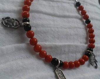 Red Coral Amulet Bracelet