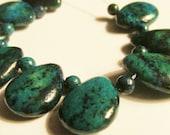 Lapis Chrysocolla teardrop bead set