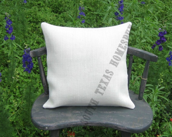 items similar to white burlap pillow cover 15 x 15 case blank wholesale price blanks ready for. Black Bedroom Furniture Sets. Home Design Ideas