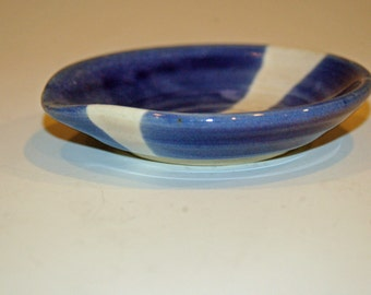 Ceramics and Pottery Spoon Rest, Blue and White, Ceramic Spoon Rest, Ceramic Soap Dish
