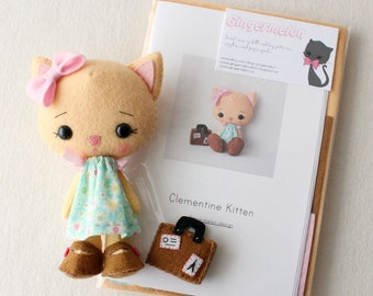 Clementine Kitten Pattern Kit