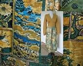 Vintage 1970s hippie dress  bohemian festival gypsy - print dress -  bust 36