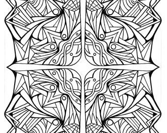 Items similar to Coloring Page Mandala Instant PDF