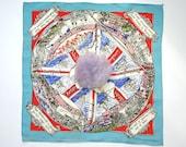 1940s WW2 patriotic powder puff handkerchief