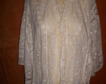 Antique Victorian Lace Bed Jacket