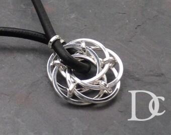 Men's Lotus Pendant Necklace