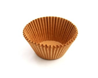 200 Brown Kraft Paper Cupcake Liners -3 sizes