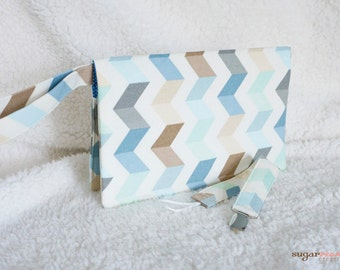 Diaper Clutch with Loop Cord Pacifier Clip; celebrity gifted item