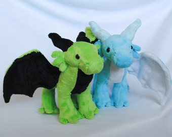 Dragon Plushie CHOOSE YOUR COLORS Made to Order