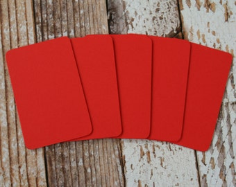 50pc POSTBOX Red Lakeland Series Business Card Blanks