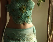 RESERVED Summer sale! Lichen lady crochet dance festival top
