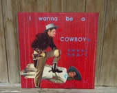 cowboy - original painting and collage