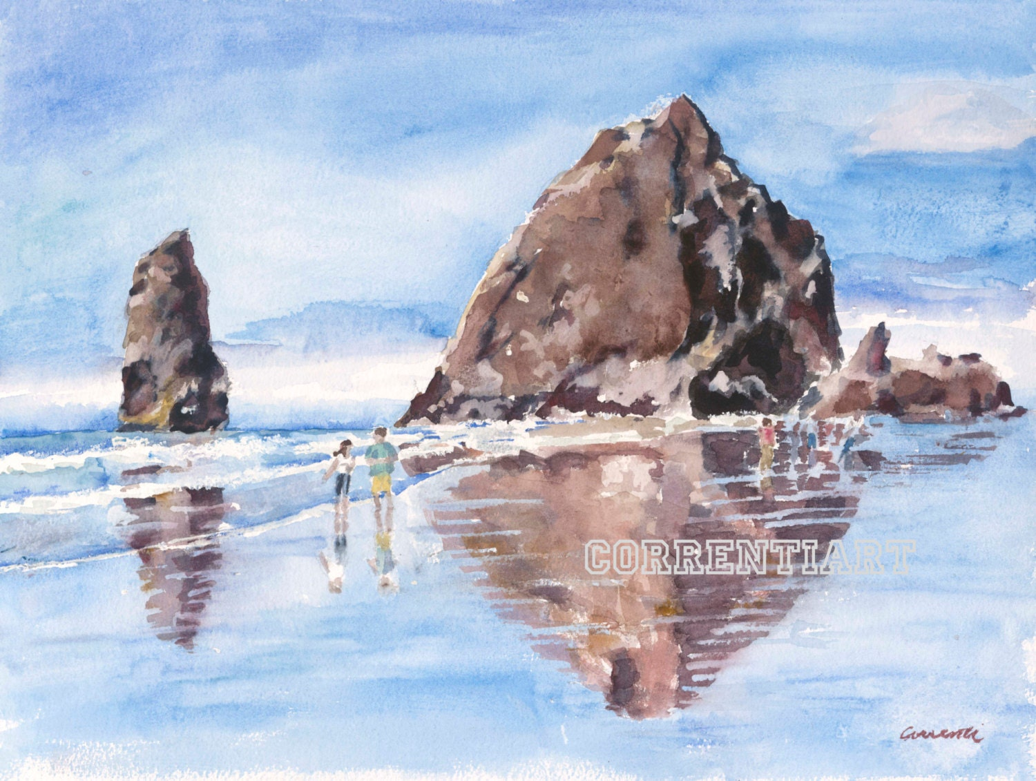 Haystack Rock Cannon Beach Oregon Giclee Print From