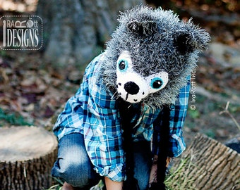 CROCHET PATTERN Raff and Rolf the Wolves Crochet Hat Pattern PDF Instant Download