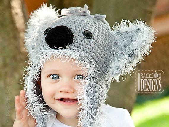 PATTERN Blinky Koala Bear Hat Crochet PDF Pattern