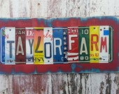 MAN CAVE Gift  - GARAGE Barn Farm Life - 10 year wedding tin aluminum anniversary gift for men man dad husband father - License Plate Sign
