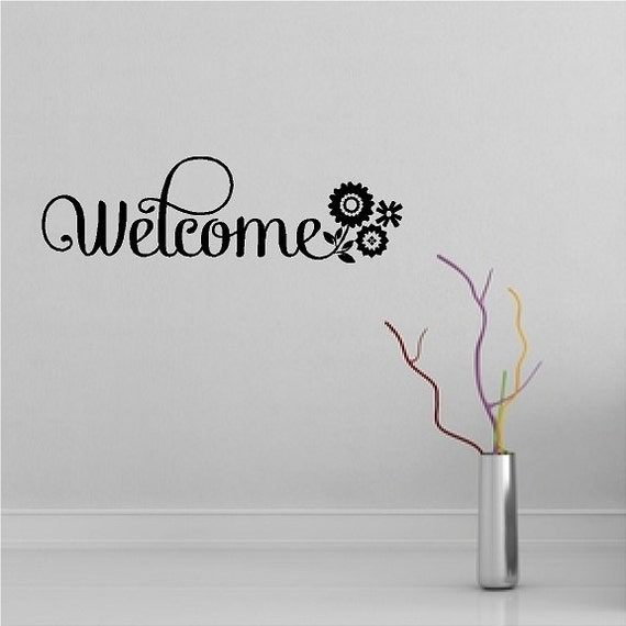 Foyer Mudroom Quotes : Welcome entryway wall quotes words sayings removable foyer