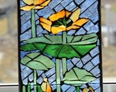 MOSAIC Alberta waterlily     Stained Glass SunCatcher or wall Decoration