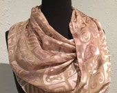 Honey and Lavender Silk Scarf