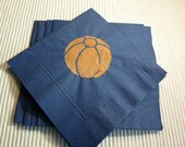 Basketball Paper Cocktail/Lunch/Dinner Size Napkins - Package of 24