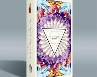 Lavish Earth Crystal Affirmation Cards