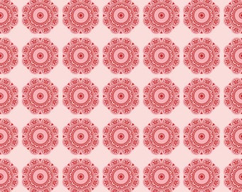Found Medallions by Riley Blake in  Red - 1/2 yard