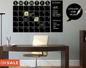 Chalkboard  Calendar Decals Chalk Board Wall Calendar Vinyl Wall Decal Christmas Gift Chalkboard Decals Chalkboard Wall Calendar Stickers
