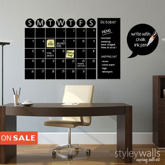10% OFF Coupon On Chalkboard Calendar Decals Chalk Board Wall