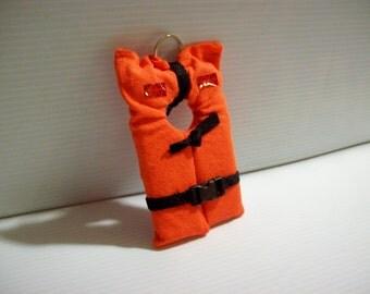 Floating Life Jacket Keychain
