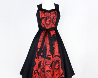 Red Steampunk Inspired Dress