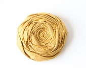 Castle Gold Hair Clip Pure Silk Rosette 2 inch