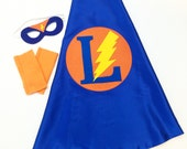Superhero Cape Set Personalized for kids- comes with accessories Superhero Cape Set comes with FAST Delivery 26 inches - Custom Letter