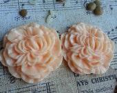 Flower Plugs Gauges Large Peach Peonies