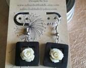 Wood & Roses Earrings