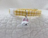 Easter Cat Collar  with Bunny  bell Breakaway Collar Custom Made