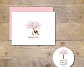 Cherry Blossom Tree, Outdoor Wedding, Swings, Wedding Thank You Cards,Bridal Shower, Rustic Wedding, Summer Wedding