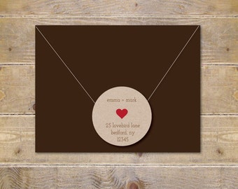 Address Labels . Return Address Labels . Recycled Address Labels . Wedding Invite Address Label . Save The Date . Bridal Shower - Sweetheart